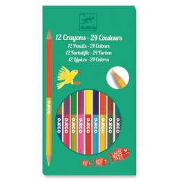 Design The colours - For older children 12 double ended pencils - 24 colours
