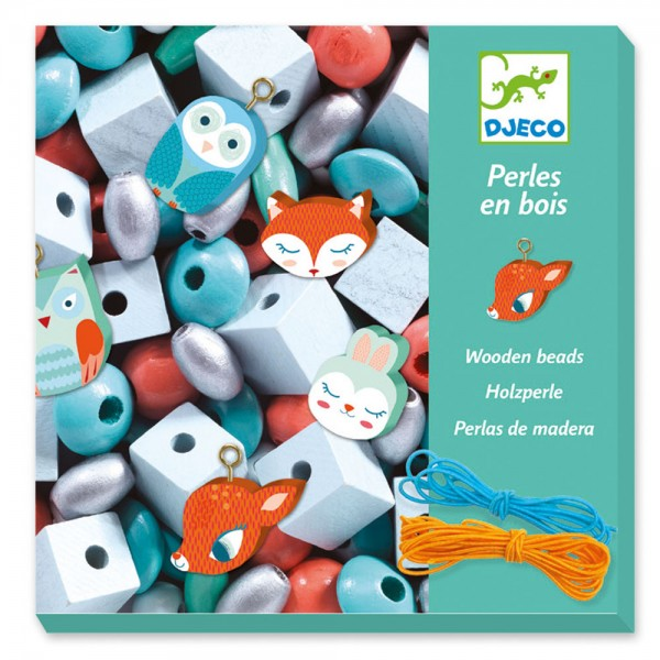 Djeco For older children - Beads and Jewellery Wooden beads, Small animals