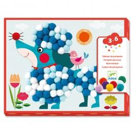 Djeco Κολάζ 'Σκυλάκι', δημιουργικη απασχοληση για παιδια, παιχνιδια για παιδια απο τριων ετων, οικολογικα παιχνιδια για παιδια, djeco paixnidia, cow makes moo