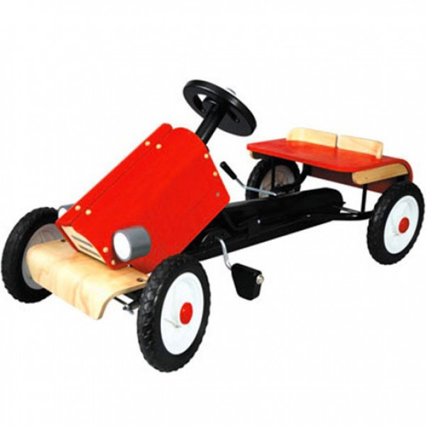 race wooden car - plan toys