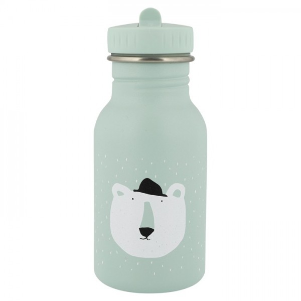 trixie baby παγουρι απο ανοξειδωτο ατσαλι - polar bear, παδικα παγουρια απο ανοξειδωτο ατσαλι, οικολογικα παγουρια,