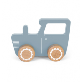 Little Dutch Wooden tractor toy blue