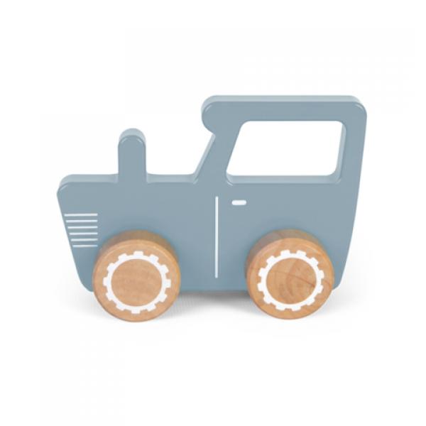 Little Dutch Wooden tractor toy blue