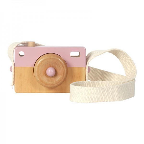 LITTLE DUTCH. wooden camera toy - pink