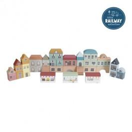 ξυλινα παιχνιδια, little dutch ξυλινη πολη τουβλακια, LD4493