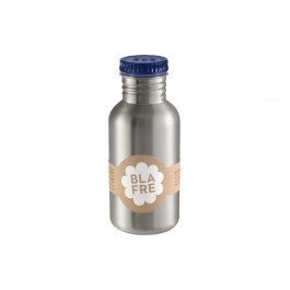 blafre Steel Bottle 500ml - Dark Blue, bottle for the water, back to school, accessories for kids, blare, bpa free