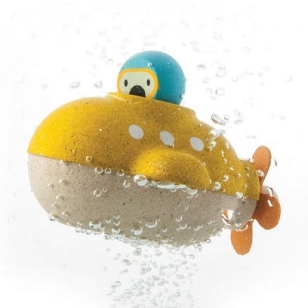 Yellow Submarine, plan toys, eco friendly kids, toys for kids, wooden toys for kids,