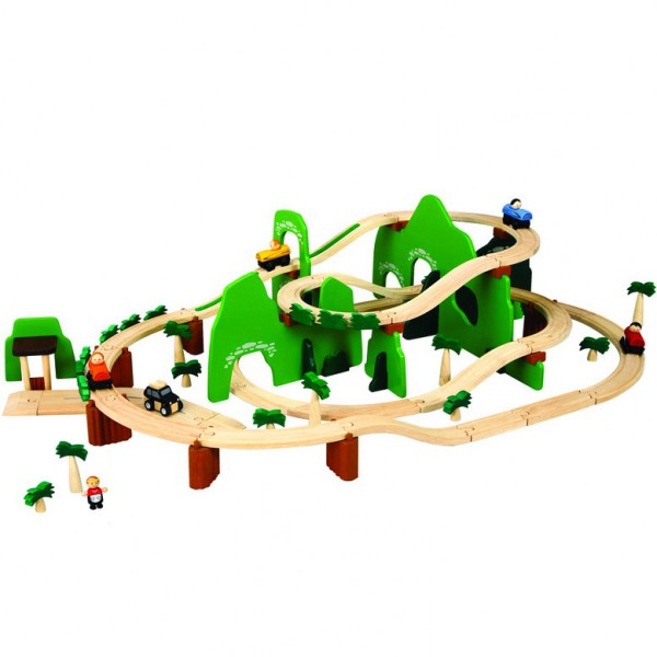 Plan toys train road - adventure