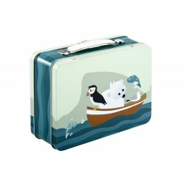 Blafre metallic suitcase - puffin