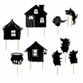 Moulin Roty night time shadow -  The Three Little Pigs  shadow theatre,