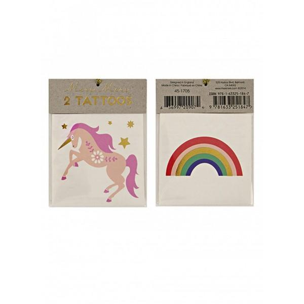 MERI MERI kids Tattoo - Unicorn & Rainbow
