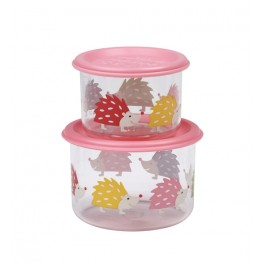 Sugar Booger Good Lunch® snack containers (set of 2) - Hedgehog