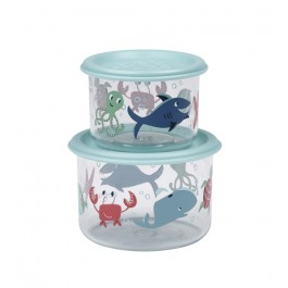Sugar Booger Good Lunch® snack containers (set of 2) - Ocean