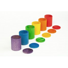 Grapat - 6 cups with lid in colour