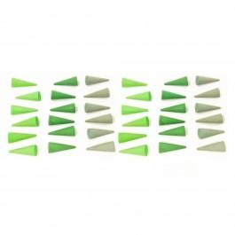 Grapat mandala - Small green cones
