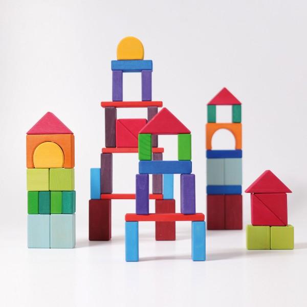 Grimm's 60 Colored Geo-Blocks