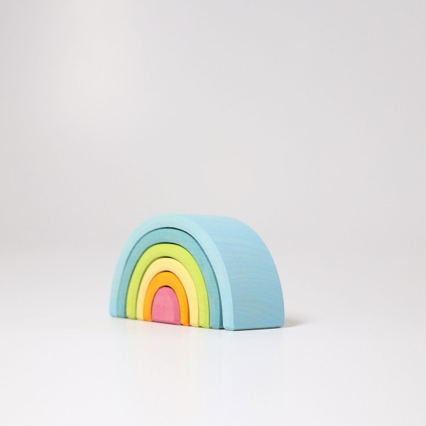 Grimm's Small Wooden Rainbow Pastel
