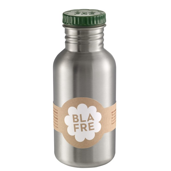 blafre Steel Bottle 500ml - Green, bottle for the water, back to school, accessories for kids, blare, bpa free