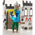 Blue Knight Set Dragon: Helmet, Shield & Tunic