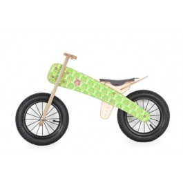 Dip Dap Wooden Balance Bike - Green Bear, balance bike, balance bicycle, bike for kids, wooden bike for kids,