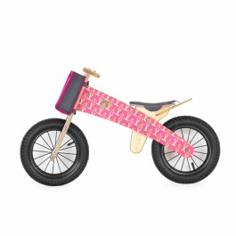 Dip Dap Wooden Balance Bike - Pink Bear, balance bike, balance bicycle, bike for kids, wooden bike for kids,