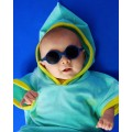 KiETLA Baby sun shades 0-18 months - Diabolo Blue, babies sun glasses, eco friendly,