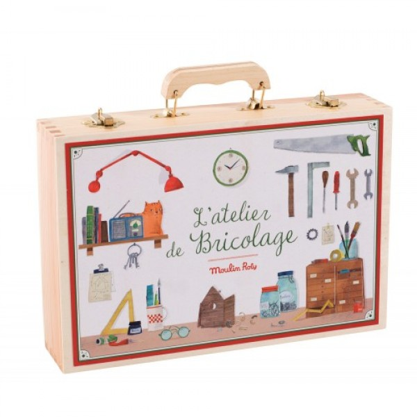 Large tool box set Jouets d'hier Moulin Roty