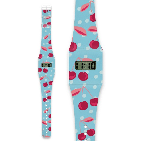 Kids Pappwatch Cherries, eco friendly watches for kids, paper watches, i like paper,
