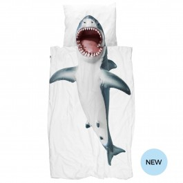 snurk duvet cover - Shark, snurk, eco friendly kids, snuck duvet cover, snuck organic, cowmakesmoo,