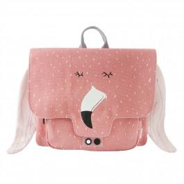 Τσάντα Πλάτης - Mrs Flamingo , σχολικες τσαντες, cow makes moo,  οικολογικες τσαντες, τσαντες για το νηπιο, για το νηπιαγωγειο, παιδικες τσαντες, παιδικα σακιδια πλατης,