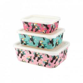 Μπαμπού Δοχεία φαγητού σετ των 3  - Tiki Toucan