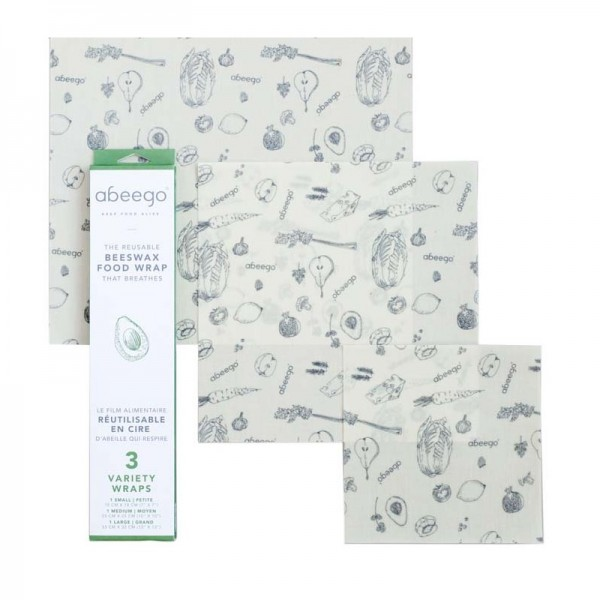 Abeego Food Wrap - 3 Variety Wraps