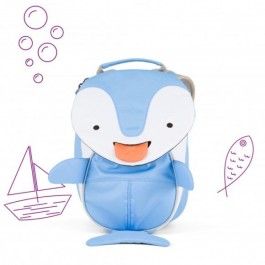 Affenzahn Eco Friendly Kid Backpack MINI - Dolphin, eco friendly backpacks, backpacks for kindergarten, bags for school, bags for preschool, kids,
