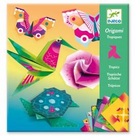 Djeco Οριγκάμι κατασκευή 'Τροπικά ζωάκια και λουλούδια'