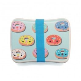 Petit Monkey Bamboo Lunchbox - Donuts Blue, petit monkey Petit Monkey Bamboo Lunchbox - Donuts Pink, eco friendly kids accessories, food accessories, lunch time, school, bamboo lunch boxes, pets monkey