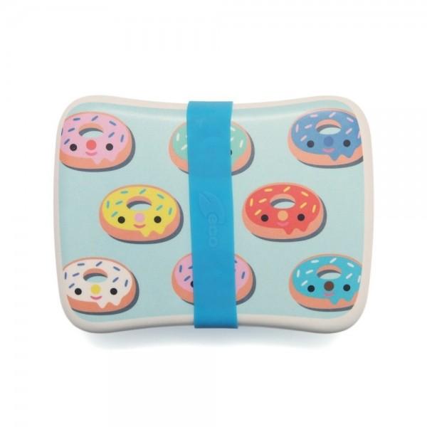 Petit Monkey Bamboo Lunchbox - Donuts Blue, petit monkey Petit Monkey Bamboo Lunchbox - Donuts Pink, eco friendly kids accessories, food accessories, lunch time, school, bamboo lunch boxes, pets monkey