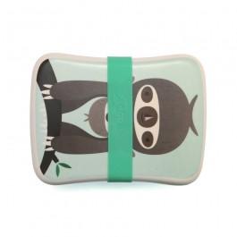Petit Monkey Bamboo Δοχείο Φαγητού - Sloth Green, cow makes moo, petit monkey,  ταπερ μεταφορας φαγητου, οικολογικα προιοντα, οικολογικο ταπερ, lunch box μπαμπου,