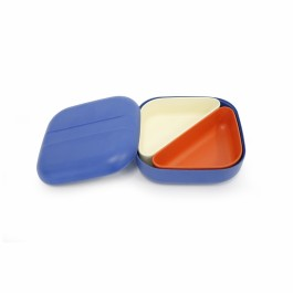 ekobo bento lunch box square + 2 containers - royal blue