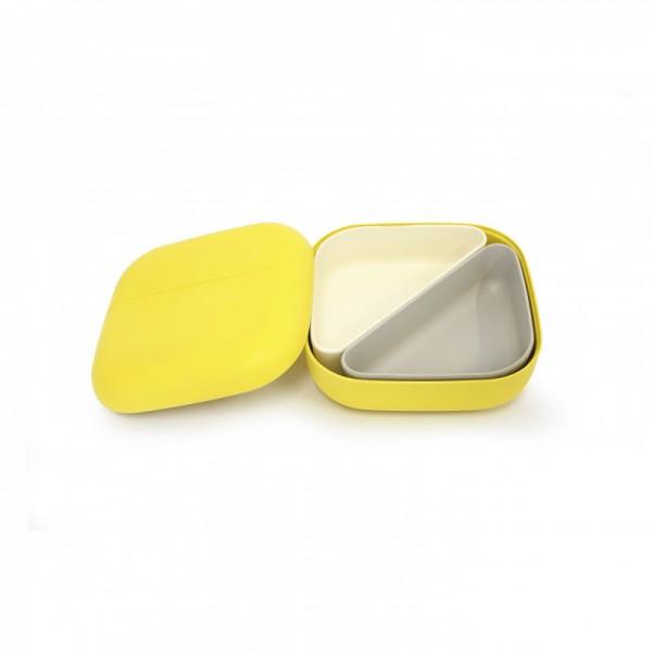ekobo bento lunch box square + 2 containers - Lemon