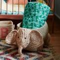 Woven Storage in Elephant Shape