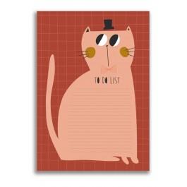 Notebook Cat to do list