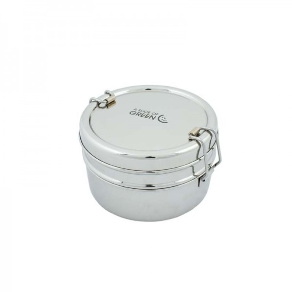 Stainless still Lunch Box Two tier & mini Container - Chapra