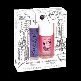NAILMATIC KIDS  Lovely City – Lip Gloss & Nail Polish Gift Set, nailmatic kids, nail polish for kids,