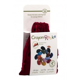 Crayon Rocks,  16 rocks - red velvet  bag