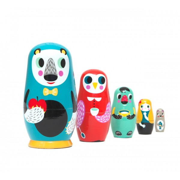 petit monkey Nesting Dolls - In the woods, petit monkey