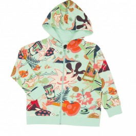 Koolabah Organic Zip Hoodie - Delight, organic kids clothes, kids wear, babies wear, koolabah, cow makes moo