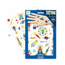 Djeco Παιδικά Τατουάζ 'Διάστημα'