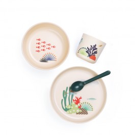 ekobo bamboo kid set - Seas, food set, bamboo food set,