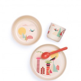 ekobo bamboo kid set - Trees, food set, bamboo food set,