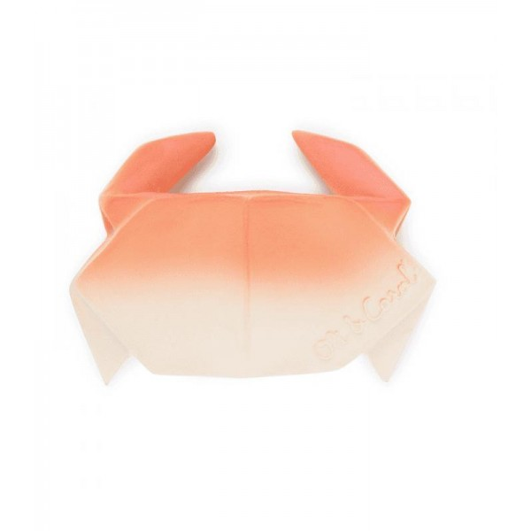 oli & carol Natural Rubber Toy - H2ORIGAMI CRAB, oil and carol, natural rubber toy, teething toys for babies, baby toys, eco friendly toys for kids, for babies, avocado,